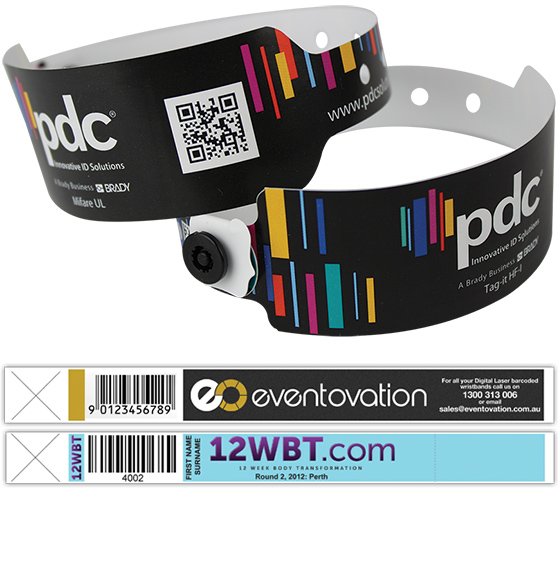 Custom Barcoded and Variable Data Wristbands